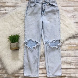 PacSun Jeans - Pacsun Light Wash Distressed High Waist Mom Jeans